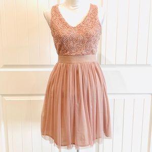 Anthropologie Soieblu Detailed Mauve Dress -S🍃
